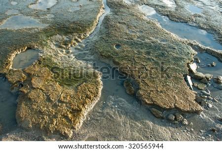 Mud sediment on the sea  - stock photo