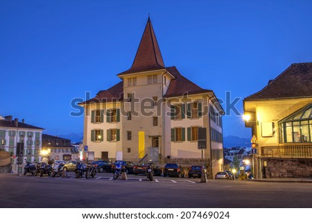 MUDAC (Museum of Contemporary Design and Applied Arts), Lausanne, Switzerland. - stock photo