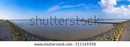 Mudflats - stock photo