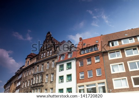 Muenster Germany City buildings - stock photo
