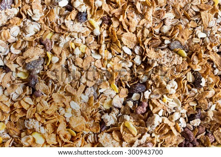 Muesli Background - stock photo