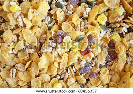 Muesli background texture - stock photo