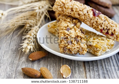 Muesli bars - stock photo
