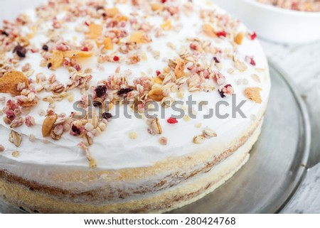 Muesli Cake - stock photo