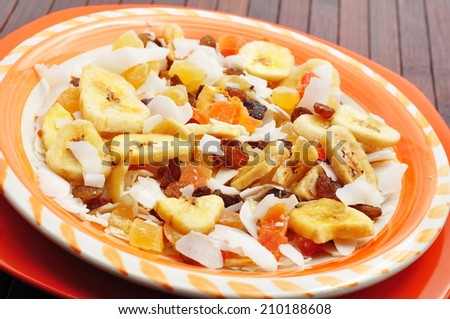 Muesli closeup  - stock photo