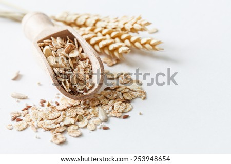 muesli with amaranth - stock photo