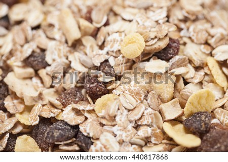 muesli with fruits - stock photo