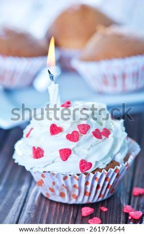 muffins - stock photo