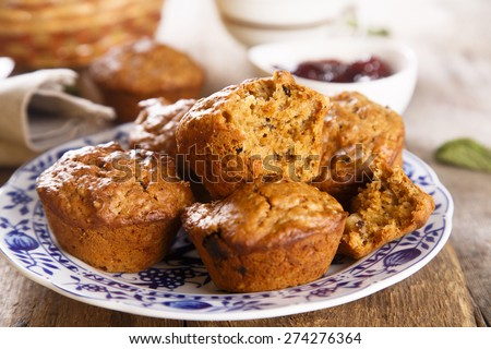 Muffins with chia seeds - stock photo
