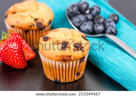 muffins with fresh fruits