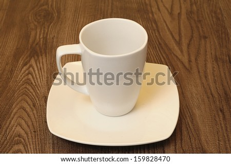 Mug and saucer - stock photo