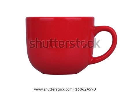 Mug for tea or coffee isolated on white background