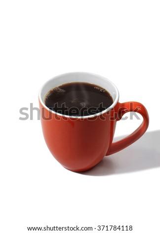 Mug of Hot Coffee - stock photo