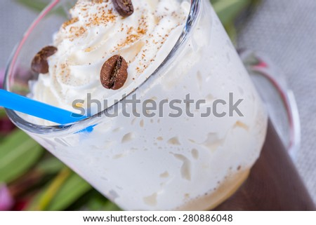 Mug of Irish Coffee - stock photo