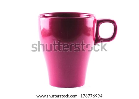 mug on a white background - stock photo