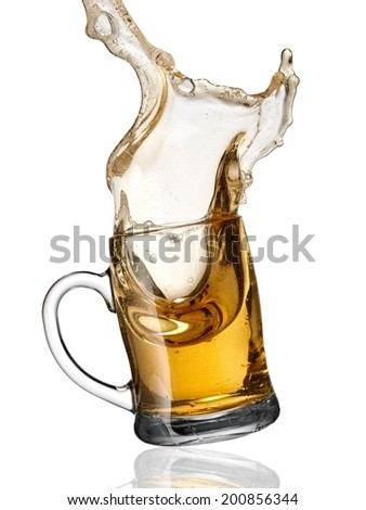 Mug with beer up