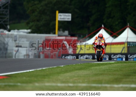 MUGELLO - ITALIA, MAY 20: Spanish Suzuki rider Maverick Vinales at 2016 TIM MotoGP of Italy at Mugello circuit on May 20, 2016