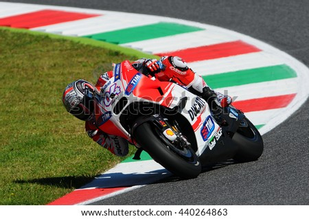 MUGELLO - ITALY, MAY 29: Italian Ducati rider Andrea Dovizioso at 2015 TIM MotoGP of Italy on May 29, 2015