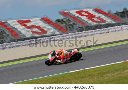 MUGELLO - ITALY, MAY 29: Italian Ducati rider Andrea Iannone at 2015 TIM MotoGP of Italy at Mugello circuit on May 29, 2015