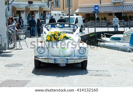 Muggia ,Italy April 30,2016:Photo of a Volkswagen Beetle 1302 LS 1974 Version.The Volkswagen Beetle,is a two-door, four passenger, rear-engine car manufactured by Volkswagen (VW) from 1938 until 2003.