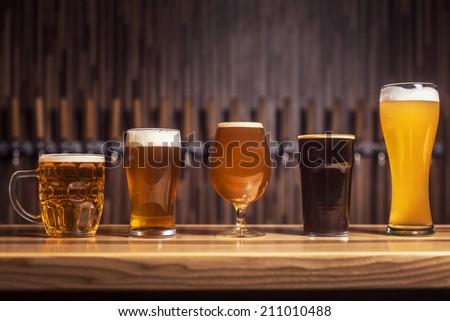 Mugs of beer - stock photo