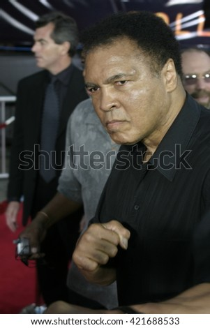 Muhammad Ali at the Los Angeles premiere of 'Collateral' held at the Orpheum Theatre in Los Angeles, USA on August 2, 2004.