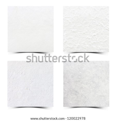Mulberry paper Collection with white background.