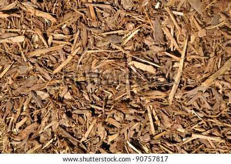 Mulch Background - stock photo