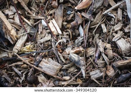 Mulch Bark Seamless Texture - stock photo