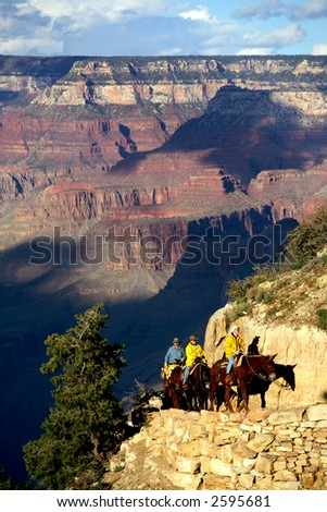 Mule riders in Grand Canyon National Park