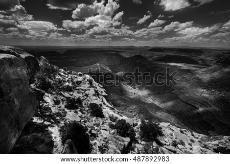 Muley Point Overlook near Mexican Hat Utah United States