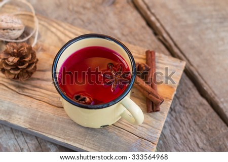 mulled red wine with spices