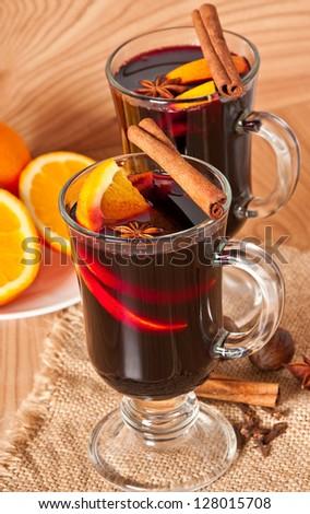 mulled wine - stock photo