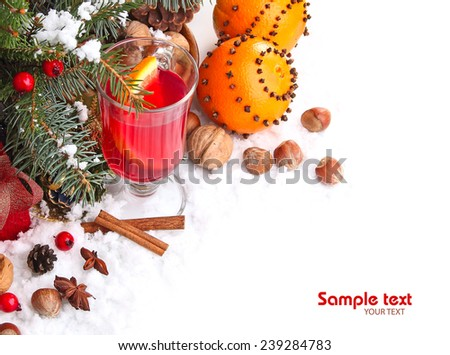 Mulled wine with cinnamon and anise