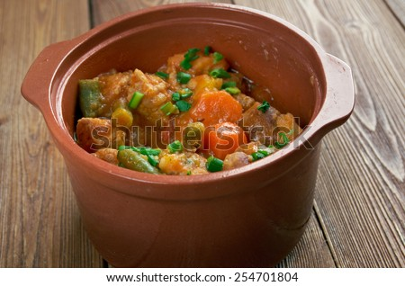 Mulligan Stew -  dish said  American hobos .Tasty winter traditional hot pot country stew