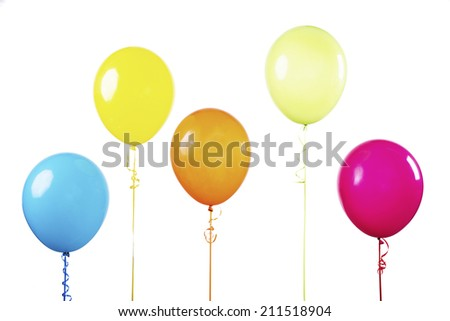 Multi color balloons
