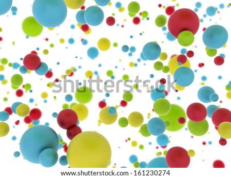 Multi color balls on white background  - stock photo