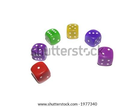 multi color cube - stock photo