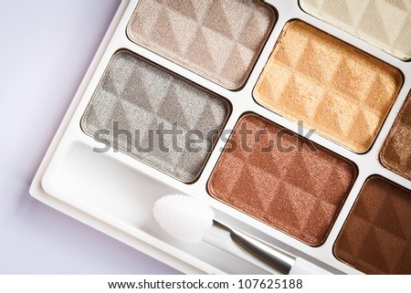 Multi color Eyeshadows - stock photo
