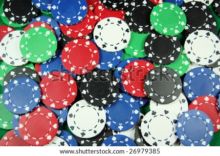 Multi color poker chip great for background art.