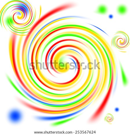 Multi color swirls background on white. - stock photo