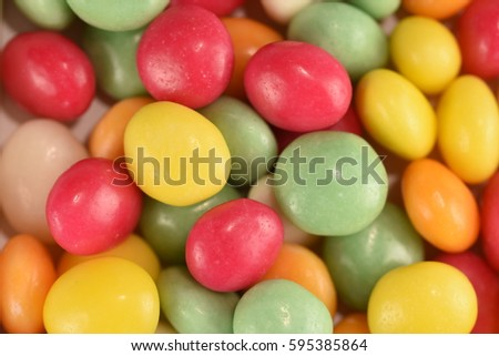 multi colored candy
