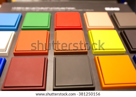Multicolored Electrical Switches Stock Photo (Royalty Free ...