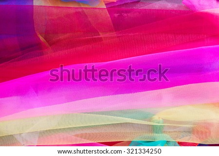 Multi-colored fabric, background - stock photo