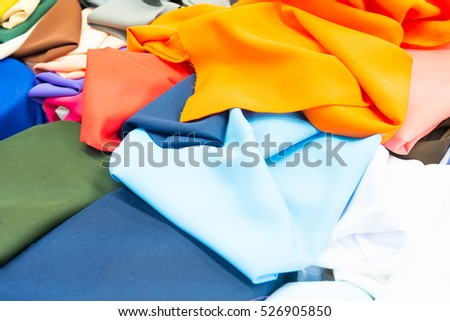Multi Colored fabric colors of background