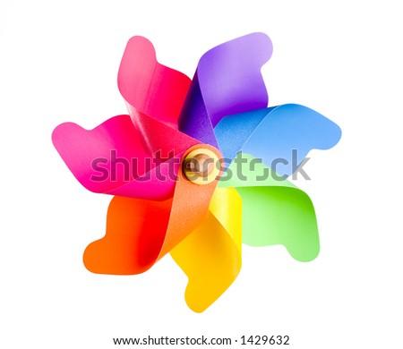 Multi Colored Pinwheel - stock photo