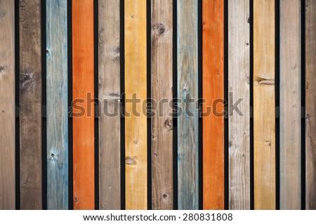 Multi colored shabby wood background - stock photo