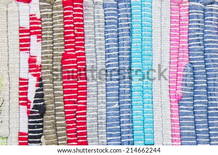 Multi-colored textile as a background image - stock photo
