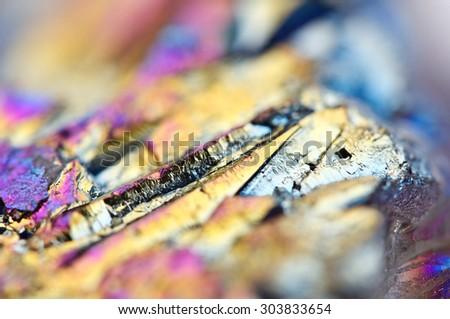 Multi-coloured Background Titanizing Quartz. Macro - stock photo
