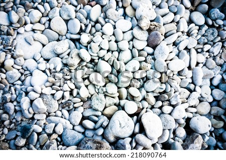 Multi Coloured Beach Pebbles Background - stock photo